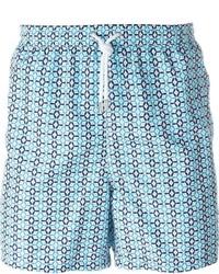 Kiton Tile Print Swim Shorts