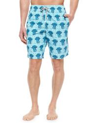 Vilebrequin Okoa Jellyfish Print Boardshorts Blue