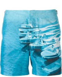 Orlebar Brown Boat Print Swim Shorts
