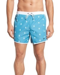 BOSS Ropefish Print Swim Trunks