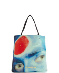 Charles Jeffrey Loverboy Blue And Red Charles Face Tote
