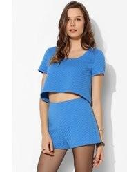 Aquamarine Quilted Shorts