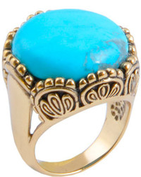 Barse Bronzeturquoise Howlite Ring Flamr02thw Goldturquoise Rings