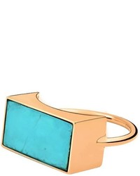 ginette_ny Ginette Ny Ever Turquoise Rectangle Ring
