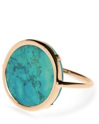 ginette_ny Ginette Ny Turquoise Disc Ring