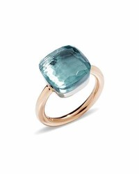 Pomellato Nudo Faceted Blue Topaz Ring Size 53
