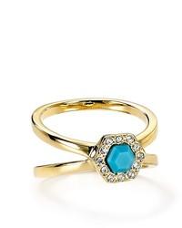 Rebecca Minkoff Pav Stone Double Band Ring