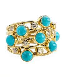 Ippolita Turquoise Diamond Constellation Ring