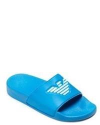Armani Junior Kids Logo Slip On Sandals