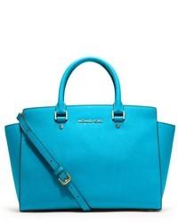Aquamarine Satchel Bag