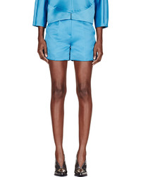 Roksanda Teal Sheen Francine Shorts