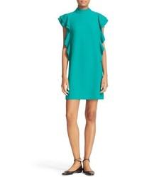 Kate Spade New York Flutter Sleeve Satin Crepe Shift Dress
