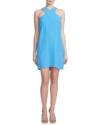 Cynthia Steffe Nora Cross Neck Crepe Shift Dress