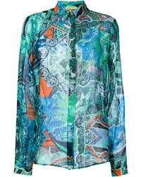Versace Jeans Sheer Patterned Shirt