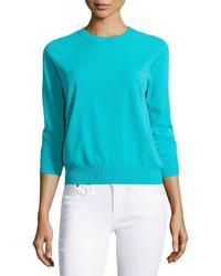 Michael Kors Michl Kors 34 Sleeve Knit Sweater Aqua