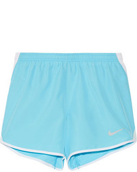 Nike Dry Tempo Mesh Trimmed Shell Shorts Light Blue