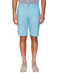 Printed Linen Shorts