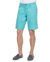 Original Paperbacks Seaside Cotton Shorts Aqua