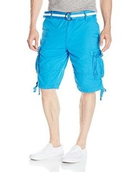 Southpole Neon Cargo Shorts In Fine Twill Fabric With Matching Belt