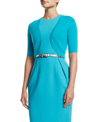 Michael Kors Michl Kors Collection Half Sleeve Open Front Shrug Aqua