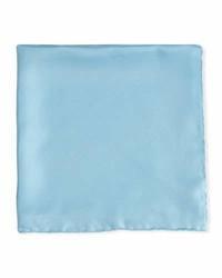 Psycho Bunny Solid Silk Twill Pocket Square Light Blue