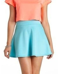 Charlotte Russe High Waisted Skater Skirt
