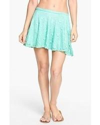 Surf Gypsy Heart Crochet Skater Skirt Mint Medium