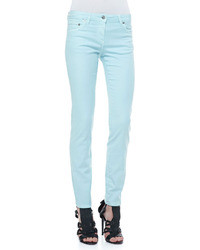 Roberto Cavalli 5 Pocket Solid Skinny Jeans Light Blue