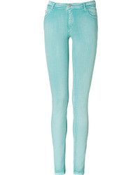 Faith Connexion Aqua Coated High Waisted Jean Leggings