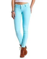 Charlotte Russe Refuge Skin Tight Colored Denim Leggings