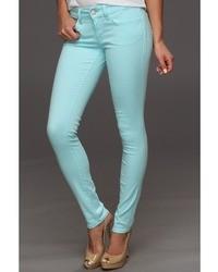 Mavi Jeans Serena Low Rise Super Skinny In Turquoise Neon