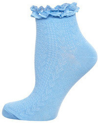 Dorothy Perkins Blue Lace Top Socks