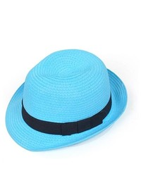 Selini Blue Paper Fedora Hat H05801 Sm
