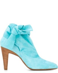 Aquamarine Suede Ankle Boots