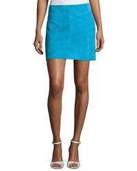 Jenny lamb suede mini skirt blue medium 3679816