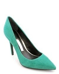 Aquamarine Suede Pumps