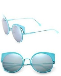 Fendi 53mm Mirrored Cats Eye Sunglasses
