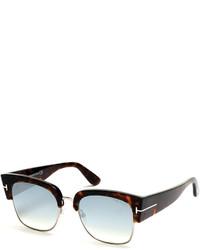 456e657bb2 ... Tom Ford Dakota Semi Rimless Cat Eye Flash Sunglasses Turquoisedark  Havana
