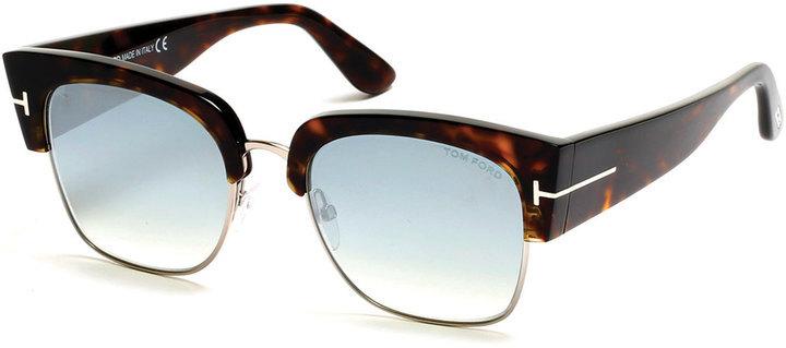 a05cab9c7e Tom Ford Dakota Semi Rimless Cat Eye Flash Sunglasses Turquoisedark ...