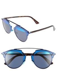 Christian Dior Dior So Real 48mm Brow Bar Sunglasses Black Shiny