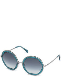 Emilio Pucci Round Geometric Sunglasses Aqua