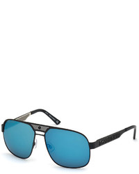 DSQUARED2 Mirrored Metal Aviator Sunglasses Blackblue