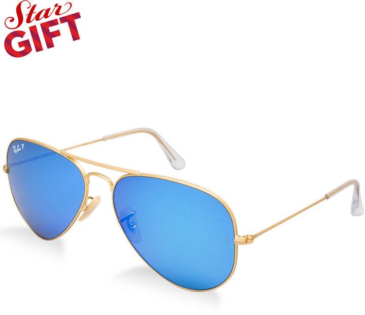 4fb51b8367 ... Ray-Ban Polarized Original Aviator Mirrored Sunglasses Rb3025 58 ...