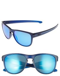 Oakley Sliver 57mm Round Sunglasses Clear Blue Sapphire Iridium