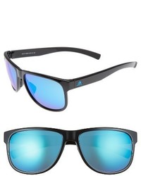 adidas Sprung 60mm Sunglasses Shiny Blue Blue Mirror