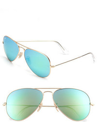 Standard original 58mm aviator sunglasses gold blue gradient medium 3753004
