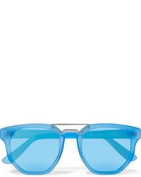 Le Specs Thunderdome D Frame Matte Acetate Sunglasses