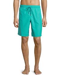Vilebrequin Okoa Solid Boardshorts Green