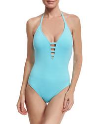LaBlanca La Blanca Island Goddess Mio Halter One Piece Swimsuit