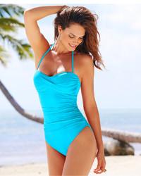 LaBlanca La Blanca Ruched Bandeau One Piece Swimsuit